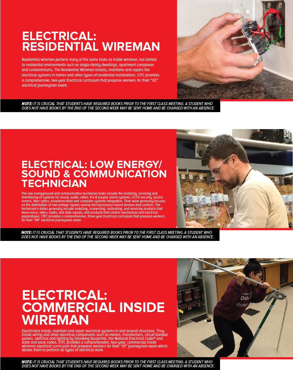 Craft Training Electrical Citc Home Wiring Books Programs Electricians Are Significant For The Support Growth Of Numerous Industries