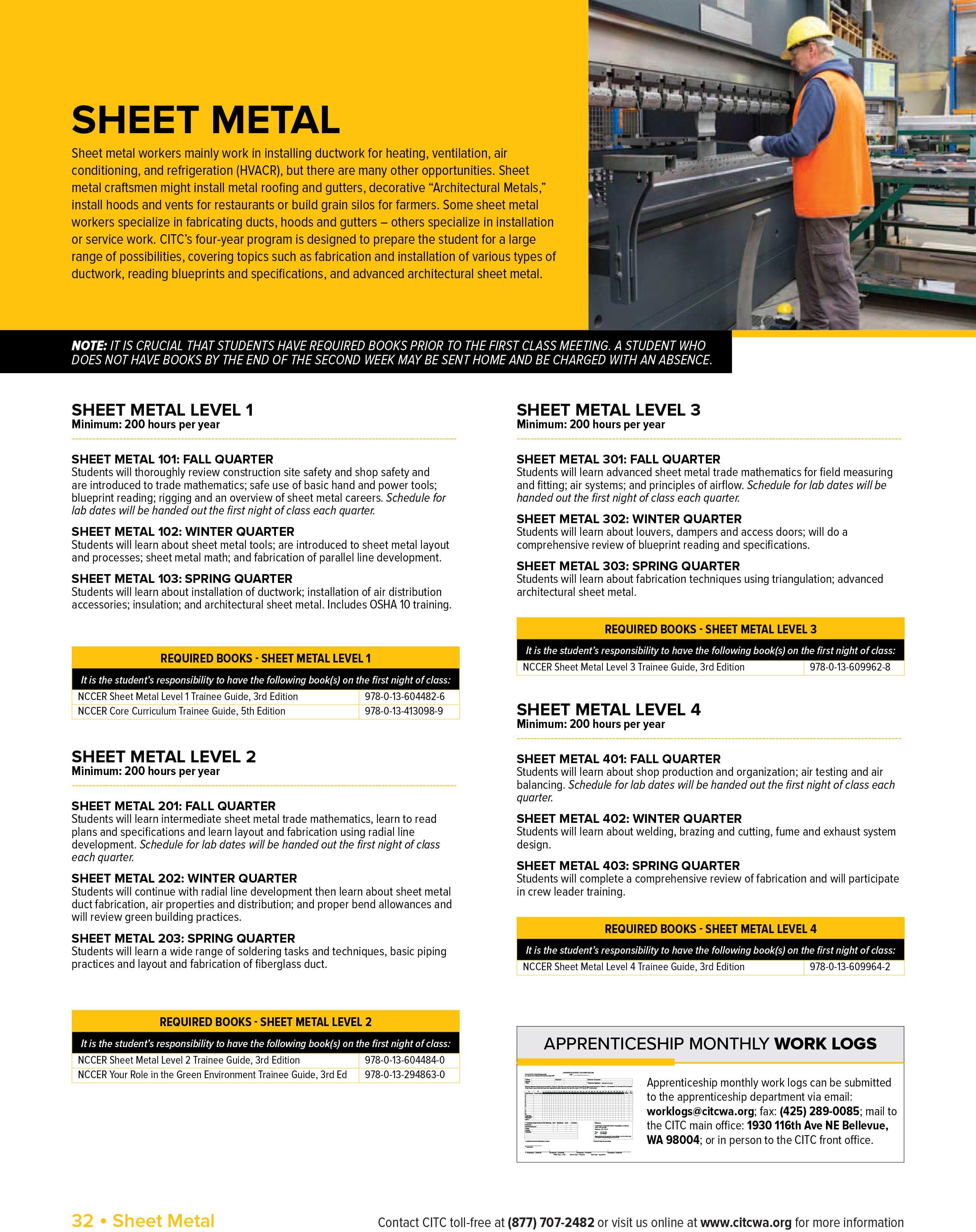 Craft Training: Sheet Metal - CITC